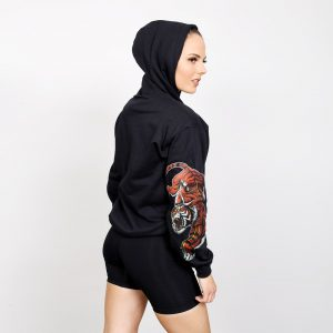 res-lauren-hunter-unleashed-sleeve-print-hoodie-min